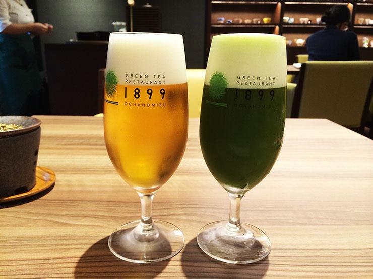 絶品なる「抹茶ビール」が飲めるグリーンティーレストラン / 和を感じる革命的な味