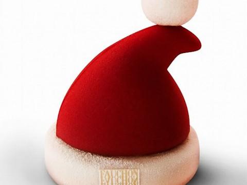 フォションが聖夜ムードを盛り上げるクリスマスケーキ『サンタハット』販売決定