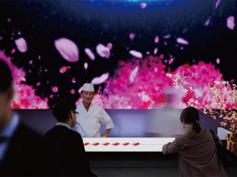 最新の科学技術を使った「美味しそうな料理を投影する」イベント開催!食べるアート展