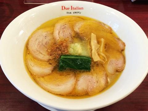 ミシュランガイド東京2015に選ばれたラーメン屋のチャーシュー麺 / ドゥエイタリアン