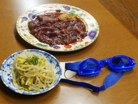 大阪最強の焼肉屋「新楽井」で食べる極上の焼肉盛合せ / ケムリ対策で水中メガネ貸し出し