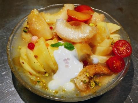 【革命グルメ】桃と桃と桃を使用した桃ラーメンが激しくうまい件 / ソラノイロ本店