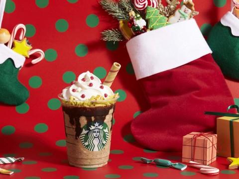 【聖夜グルメ】スタバでクリスマース! サンタブーツ チョコレート フラペチーノ登場でサンタさんキター!