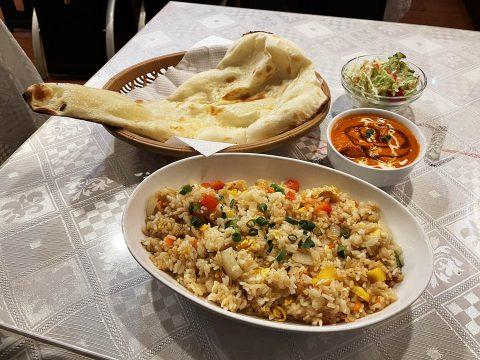 【豪快グルメ】インドカレー屋でチャーハンとナンのセットを食べる不思議体験 / 五反田のmaya